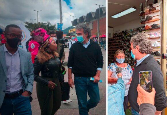 La caminata perdida de Sergio Fajardo en el sur de Bogotá: pocos lo conocen