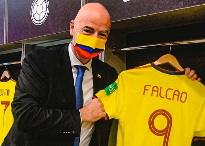 La verdadera razón de la visita de presidente de la FIFA a Barranquilla