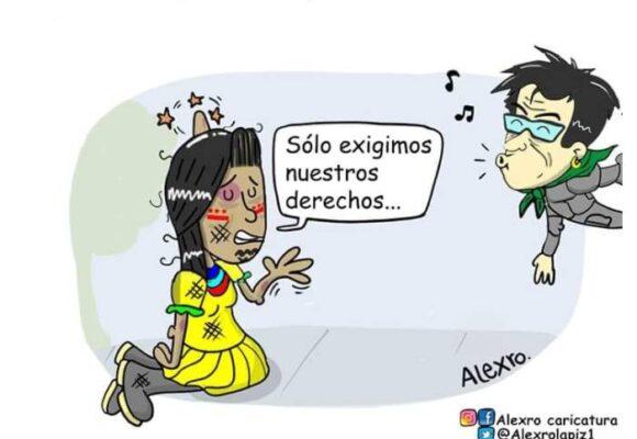 Caricatura: La Bogotá cuidadora