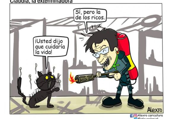 Caricatura: Claudia, la exterminadora