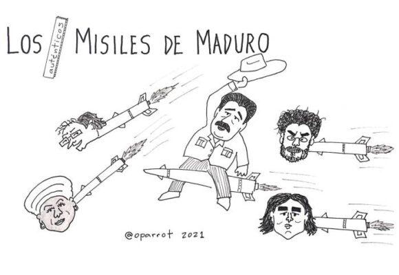 Caricatura: Los -auténticos- misiles de Maduro