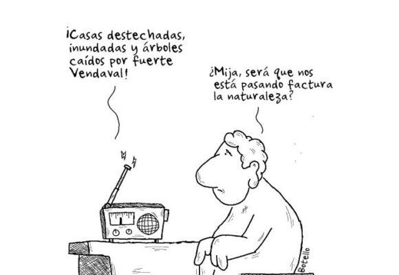 Caricatura: Nos está pasando factura la naturaleza
