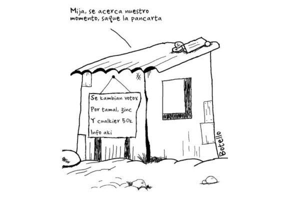 Caricatura: Se regalan votos