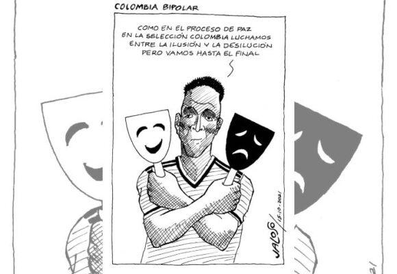 Caricatura: Colombia bipolar