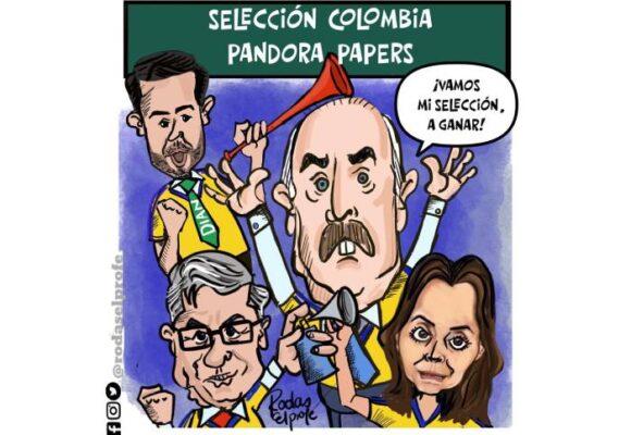 Caricatura: Selección Pandora Papers