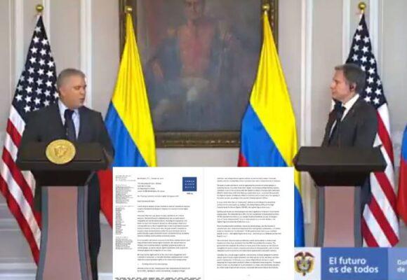 El informe de Vivanco sí pesó en la reunión entre Blinken y Duque