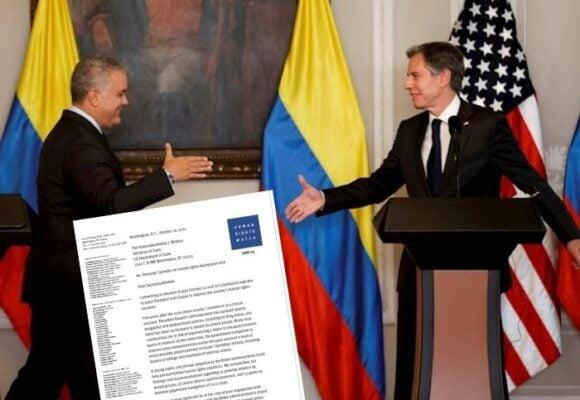 El documento con el que Blinken llega a la reunión con Duque