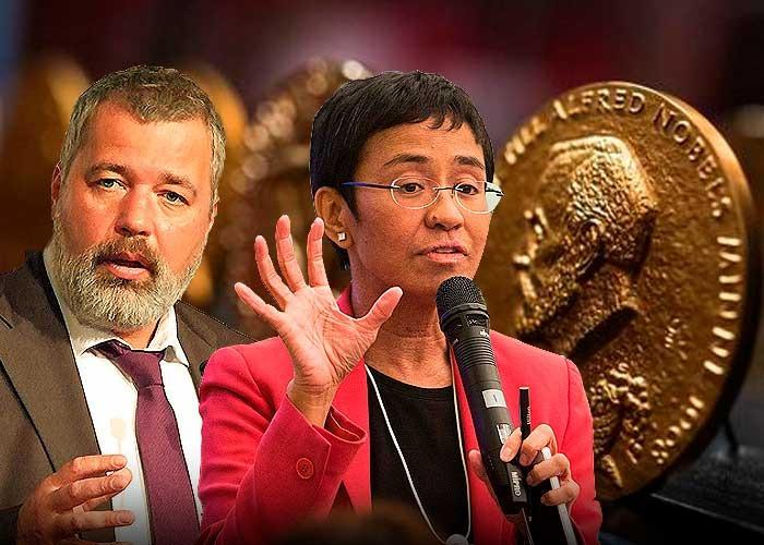 Los dos periodistas que se ganaron el premio Nobel de la paz